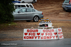 "Unmanned ""sour fig konfyt"" stand near Kirstenbosch, Cape Town"