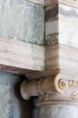 Marble Fireplace Detail (nathancomben) Tags: england house texture buildings fireplace unitedkingdom objects marble nationaltrust sevenoaks knole knolehouse