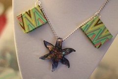 Starfish and Books Necklace closeup (glassmap) Tags: green book necklace starfish books jewelry bookjewelry