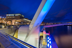 Pitcher & Piano (Gary Pattison) Tags: city bridge reflection water river newcastle pub cityscape dusk sage tyne millenniumbridge quay gateshead nightlife newcastleupontyne pitcherpiano