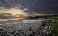Godrevy Sunset 2 (Raymondo99) Tags: sunset beach lights cornwall thrift blended lowtide godrevy clifftop sigma1020mm456exdchsm nikond5000 mygearandme mygearandmepremium mygearandmebronze mygearandmesilver lightroom4
