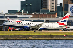 G-LCYE British Airways E170 at London City EGLC (AeroPics) Tags: cj ba britishairways londoncityairport londoncity embraer170 embraer baw cfe lcy e170 eglc runway09 steepapproach bacityflyer glcye stolport