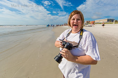 Lady Photographer at the Endless Summer Surfing Camp (mutrock) Tags: ocean sea sky woman usa sun beach water lady clouds sand surf photographer unitedstates florida surfing atlantic jacksonville fl atlanticocean jacksonvillebeach 2013 endlesssummersurfcamp ladyphotographer floridasurfing