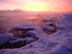 Lake Superior sea smoke