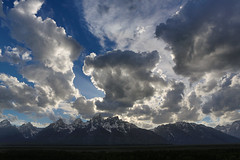 "Dramatic clouds over Teton Range, near sunset, #1 of 4 (IronRodArt - Royce Bair (""Star Shooter"")) Tags: clouds bravo dramatic cumulus grandtetons cloudscape grandtetonnationalpark dramaticclouds cumulusclouds"