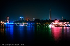 Nile (Appooda) Tags: blue red tower night photography egypt nile panasonic cairo dmc fs62 appooda