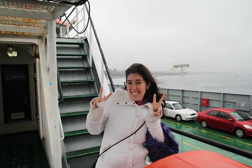 Cruzando el canal de Chacao