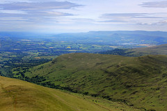 The Wye Valley (Tom Patterson) Tags: uk blue summer mountain mountains green wales clouds landscape walks cloudy walk sunny hike breconbeacons hills clear views summit fields blueskies brecon penyfan hikes brecons cribyn clearskies actionmedicalresearch racethesun actionforcharity gwauntaf