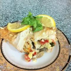 صدور دجاج محشية بالجبن والمشروم (tabke_) Tags: مطبخ طبخات طبخ غداء اطباق عشاء اكلات وصفات طبخي