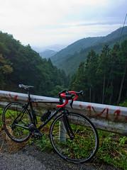 Peak (A7design1) Tags: road mountain bike japan training cycling tokyo climb view bs hill bridgestone lookout anchor   saitama okutama  hillclimb  shimano  campagnolo       oume   toge   yamabushi amamezasu rfx8 shomaru       rotor3dplus