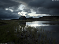 Glimmer (SwaloPhoto) Tags: clouds zeiss reeds scotland highlands dusk availablelight perthshire silhouettes ze gloaming lochan nofilters glenquaich canoneos5dmkii distagont2821 distagon2128ze processedwithathesaurus