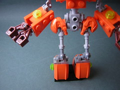 HMS-14 Robot (Dead Frog inc.) Tags: fiction orange robot lego science scifi fi midi sci droid mech moc