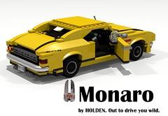 Holden 1968 Monaro HK Coupe (lego911) Tags: auto hk classic car model lego render australia 1960s 1968 69 coupe challenge holden cad monaro lugnuts povray moc ldd miniland summerof69 lego911
