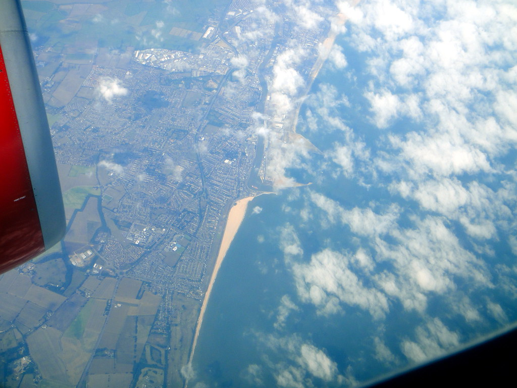 Great Yarmouth town and beach from above