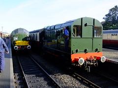 D6732 D3940 Sheringham North Norfolk Railway 28th September 2013 (Cooperail) Tags: uk electric train br diesel north norfolk railway east locomotive holt sheringham anglia ger lner dmu weybourne mgn 2013 d6732