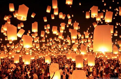 Loi Krathong festival Thai