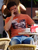 Feierabend. (ЯAFIK ♋ BERLIN) Tags: hot guy beauty hunk resting guapo stud bulge streetshot paquete tío kerl bulto