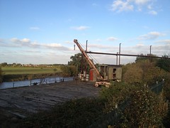 Lonely crane (seanofselby) Tags: river crane jetty pauls ouse selby bocm