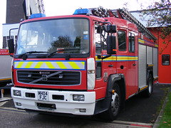 2901 - GMFRS - MH04 DJC - DSCF8931 (Call the Cops 999) Tags: county uk bridge england rescue station manchester fire volvo october day open britain united great north stripe saturday kingdom crest pump vehicles bolton gb vehicle and service greater ladder emergency beacon chevron 19 services saxon revolving djc chevrons lightbar astley mh04 2013