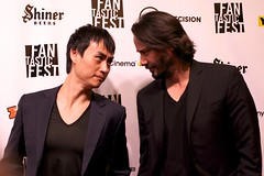 Keanu Reeves and Tiger Chen, red carpet for Man of Tai Chi (annainaustin) Tags: film festival austin movie texas fantasticfest 2013
