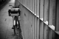 Bike Parking (Channed) Tags: city travel bw bike bicycle fence vakantie singapore asia reis stad fiets metropool metropole hek azi