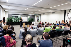 10:04am - Collis speaking at the Envato fortnightly All Hands meeting | A Day in the Life of the CEO (envato) Tags: life day australia melbourne collis taeed envato