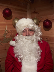Santa #3 (Luke Stephenson) Tags: santa christmas xmas red white green shopping garden beard santas centre shed fake suit gift presents grotto