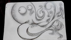 (HannahLouiseO_o) Tags: illustration weird drawing character freaky octopus anthropomorphic
