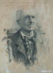 Romualdo Prati Ritratto di Stefano Prati 1893 carboncino su carta 60x45cm Collezione privata