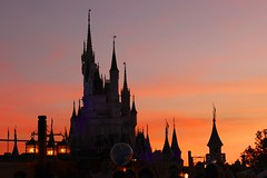 Cinderella Castle Sunset