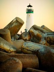 Walton Lighthouse (padams) Tags: ocean california sunset santacruz lighthouse surf unitedstates shore pilings