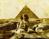 Digital Oil Painting of the Great Sphinx of Giza (Charles W. Bailey, Jr., Digital Artist) Tags: detail art sphinx photoshop painting lens effects photo exposure dynamic pyramid skin 4 alien great egypt manipulation snap nile oil giza hdr topaz adjust autopainter