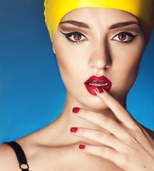 Plastik (Belina Starscream) Tags: blue portrait selfportrait beauty yellow self photography skin magenta retouch selfie
