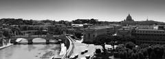 Vatican City panorama (B.B. Wijdieks) Tags: city bw italy panorama white pope black vatican rome roma monochrome gold warm italia pentax swiss faith guard vaticano da 28 bb rom paus 2010 zw k20d 1650mm wijdieks