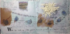 Wake up, wake up little sparrow (Ellen Ribbe) Tags: art mixed media drawing kunst zeichnung scribbeling