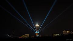 Leuchturm in Flammen 2014 (phboehm) Tags: warnemünde nacht neujahr rostock feuerwerk leuchturm