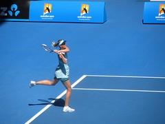 8551 (crashingthroughthedoors) Tags: italy russia australia melbourne tennis mariasharapova masha sharapova round2 australianopen 2014 karinknapp vision:outdoor=099 vision:clouds=0697 vision:sky=0956