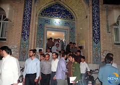 Main gate of Sheikh Alansari Mosque in Dezful