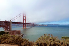 Foggy Bridge - San Francisco, California (Andrea Moscato) Tags: bridge sea usa beach water fog architecture clouds america bay us iron nuvole mare unitedstates ponte goldengate nebbia acqua architettura baia statiuniti bestcapturesaoi elitegalleryaoi flickrsfinestimages1 flickrsfinestimages3 andreamoscato