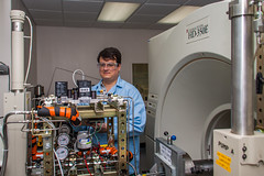 Dustin McIntyre works with the medical CT scanner at the CT Imaging Facility at the National Energy Technology Laboratory in Morgantown, WV (NETL Multimedia) Tags: netl nationalenergytechnologylaboratory nationallab energylab energy research national laboratory fossilenergy fossilfuel science technology