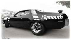 Plymouth GTX road runner 1972 Clerici ☆ Copyright © Bernhard Egger :: eu-moto images classic sports cars 1679 bw