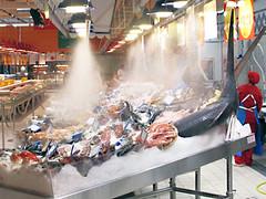 Auchan Cesano Boscone nebulizzazione pescheria