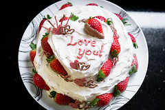 Happy Valentines Day! (Dave Ng Photography) Tags: cake happy day chocolate strawberries galaxy valentines chocolatecake
