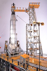 Mercury Atlas on launchpad (Dovedale Derby) Tags: mercury atlas rocket launchpad meccano