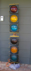 Eagle Bliss traffic lights (RS 1990) Tags: old light black yellow traffic eagle body antique australian 1960s 1970s bliss gw signal