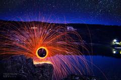 steel wool @ Kailaka Lake (Tsvetelin Iliev Photography) Tags: cliff lake wool rock sparkles night stars photography cool nikon long exposure steel iliev tsvetelin