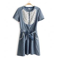 ชุดยีนส์ แฟชั่นเกาหลี ผู้หญิง Lace Dress นำเข้า - พร้อมส่งTJ7095 ราคา750บาท  รหัสสินค้า : TJ7095  ไซส์ : อก 33-36 เอว 26-33 สะโพก 33-38 ยาว 34 นิ้ว  วัสดุ : Cotton Denim + Lace  สี : Jeans  โทรสั่งของกับ พี่โน๊ต/พี่เจี๊ยบ : 083-1797221, 086-3320788, 02-93