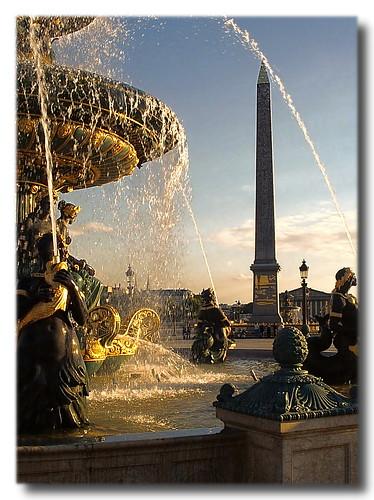 Paris FR - Fontaine des Mers and Obelisk