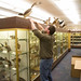 Biology professor Jim Yoder, PhD, carefully removes a specimen from the D. Ralph Hostetter Museum of Natural History to storage to begin the 2014-2016 Suter Science Center renovation.