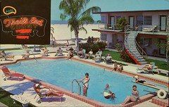 Trails End Motel, St. Petersburg, Florida (SwellMap) Tags: sun pool architecture swimming vintage advertising design pc 60s fifties postcard suburbia style motel kitsch retro swimmingpool nostalgia chrome pools swimmer americana 50s roadside poolside googie populuxe sixties babyboomer consumer coldwar midcentury spaceage aquatics atomicage